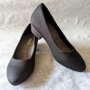 Baubax Sustainable Black Dressy Low Heels, Size 6